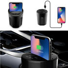 Qi Wireless Car Charger Charging Holder Cup Mount For iPhone X/8 Samsung S8/S7