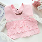 Cotton 100% Lace Princess Girl Baby infant toddler Newborn Bibs Feeding Cloth