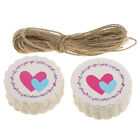 100pcs Valentine's Day Paper Love Heart XOXO Hanging Gift Tag Wedding Favors