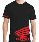 HONDA WING VINYL RACING MOTOCROSS A TV  T-SHIRT BLACK  /RED   LOGO FREE SHIPPING