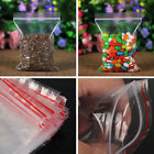 100pcs Ziplock Zip Zipped Lock Reclosable Plastic Poly Clear Seal Bags  Fitted