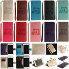 2018 Embossed Flip Card Stand Case Wallet Cover For iPhone 5S SE 6 6S 7 8 Plus X