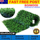 Artificial Boxwood Hedge Fake Vertical Garden Green Wall Ivy Fence Mat 10-50 Pcs