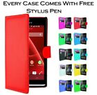 Magnetic Wallet Flip Book Card Holder Pu Leather Case Cover For Sony Xperia E4