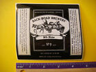 Cool BEER STICKER Label: BACK ROAD Brewing #9 Barley Wine Ale ~ LaPorte, INDIANA