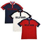 Tommy Hilfiger Mens Polo Shirt Graphic Logo Custom Fit Mesh Knit Casual New Nwt