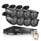 SANNCE 1080P HDMI 8CH /4CH 5in1 DVR 1500TVL Day Night Security Camera System 1TB