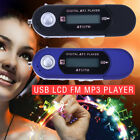 Portable USB MP3 Music Player Digital LCD Support 32GB FM Radio + Earphone CW