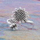 925 Sterling Silver SUNFLOWER BEE Ring Band sz 6 7 8 9 10 Garden Spring Jewelry