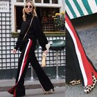 ZARA BLACK TROUSERS WITH RED AND WHITE STRIPE SIZE XS_S_M  REF.7994/778