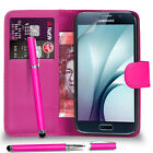 Samsung Galaxy S7 FITS Case Premium Leather Wallet Filp Case 2IN1 Ball Pen