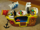 2005 FSHER PRICE LIL PIRATE SHIP 2 PIRATES 1 PARROT