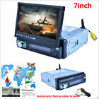 7 Inch Retractable Screen Quad-core Android Car Stereo MP5 Player GPS Navigation