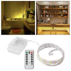 remote operated lights - Battery Operated 0.5-2M Long 30LED/Meter Strip Light Remote Dimmable Warm White