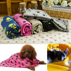 Pet Cat Dog Puppy Winter Blanket Warm Beds Mat Cover Soft Fleece Paw Print Novel