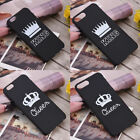 Romantic Couple King Queen Crown Matte Back Case Cover for iPhone X 6 6s 7 8Plus