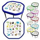 Coloured Children's Tuff Spot Play Tray with 3 tier stand & Alphabet Play Mat.