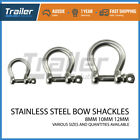 STAINLESS STEEL BOW SHACKLE 8mm,10mm,12mm Marine Boat 4ed Lifting Anchor Rigging