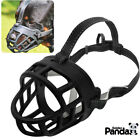 "Soft Silicone Basket Large Dog Muzzle 8-15.5"" Month Size Secure fr Pitbull Boxer"