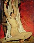 Male Nude by William Etty. Giclee Fine Art Reproduction Prints Archival Canvas