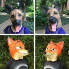 Dog/Fox Head Latex Mask Party Masquerade Cosplay Costume Full Face Mask