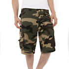 Mens Military Army Fatigue Camo Cargo Shorts Casual Cargo Shorts Pants 6 Colors
