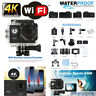 "2"" 4K Ultra HD 16MP Helm Action Camera Sports DV WiFi Cam 30m Waterproof 2018"