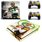 PS4 Console Stickers Skin Aaron Rodger NFL Packers Vinyl Skin Decals Controllers