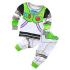 Kid Baby Boy Disney Toy Story Fancy Dress Buzz Costume Outfit Sets T-shirt Pants
