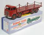 1954 DINKY #905 FODEN FLAT TRUCK W/ CHAINS, 2ND CAB, nr-MINT+ W/ nr-MINT BOX