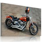 HARLEY DAVIDSON BLACK RED MOTOR BIKE Large Wall Canvas Picture ART  HD62  MATAGA £42.49 GBP on eBay