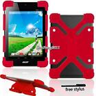 Soft Silicone Shockproof Stand Cover Case For Acer Iconia One Tab Tablet +Stylus