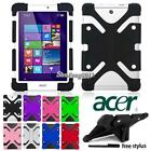 acer 8 tablet case - Soft Silicone Shockproof Stand Cover Case For Acer Iconia One Tab Tablet +Stylus