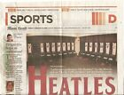 The Heatles Beatles Ed Sullivan Miami Herald Very Unusual Printing Defect
