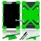"""Universal Soft Silicone Shockproof Stand Cover Case For 7"""" 8"""" Tablet + Stylus"""
