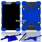 """Universal Silicone Shockproof Stand Cover Case For Various 7"""" 8"""" Tablet + Stylus"""
