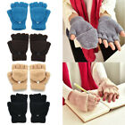 Women Coral Fleece Winter Warm Cold Weather Gloves Mittens Accessories Gift