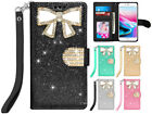 For iPhone 8 / 8 Plus / 7 / 7 Plus Bling Diamonds Leather Wallet Case Cover