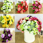 best home party businesses - 21 Head Artificial Fake Silk Rose Flower Bouquet Home Wedding Bridal Party Best