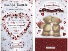 FOR MY FIANCEE 8 PAGE SENTIMENTAL VERSE VALENTINES DAY CARD 1ST P&P