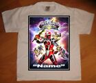 Power Rangers Ninja Steel Personalized Birthday Party Favor Gift T-Shirt - NEW