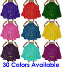 Satin 4 Tiered Gypsy Skirt Belly Dance Jupe Oriental 6 Yd Flamenco Frill Ruffle