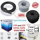 RJ45 CAT 6 CAT 7 CAT5e Network Cable Ethernet SSTP 10Gbps Gigabit Flat Patch Lot