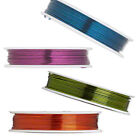 20 Gauge Colored Coated Copper Jewelry Making Bead Craft & Floral Wrapping Wire