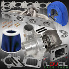 1.8T Audi Exhaust Stainless Manifold .50Ar Turbo Filter Heat Cover Blue Chrome