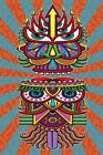 3-D TAPESTRY-HUNGRY EYES-100% COTTON-60X90 WALL HANGING-3D GLASSES INCLUDED