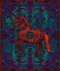 3D TAPESTRY-UNICORN-Psychedelic-100% COTTON-60X90 WALL HANGING-FREE 3D GLASSES
