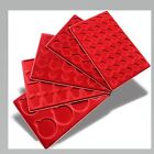 RED TRAYS FOR MEDALS & ORDERS COLLECTION - MULTI COMPARTMENT TRAY OPTIONS SHAPES