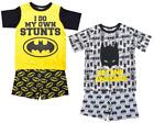 Boys PACK OF 2 Official Batman Awesome Stunts Shorty Pyjamas 3 to 12 Years