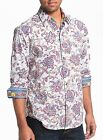 Robert Graham Chitwood Embroidered Paisleys Floral Print Shirt Size Medium $290